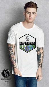 T-Shirt or Tank Top - Hibiscus Print - ASC T-Shirts - aussie-shirt-co
