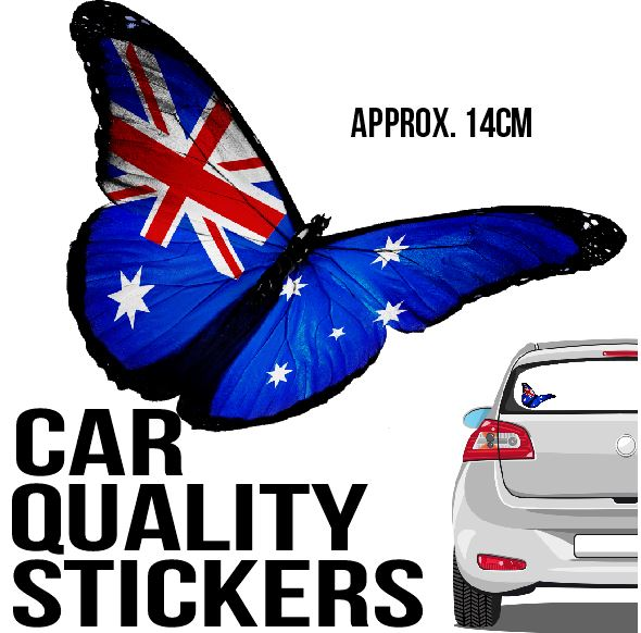 Aussie Australian Butterfly - Sticker - Car or Wall Decal - ASC Stickers - aussie-shirt-co