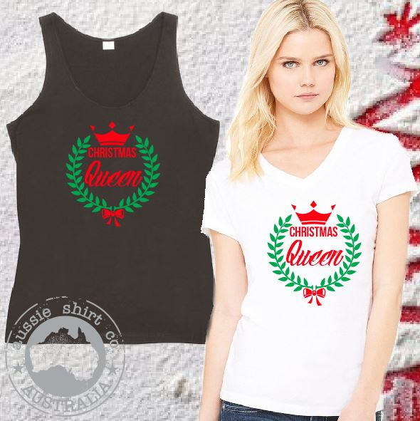 Womens Christmas Shirts - Christmas Queen