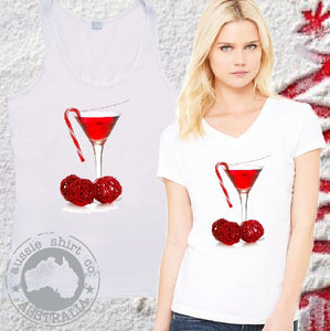 Womens Mens Christmas T-Shirts and Tanks COCKTAIL CHRISTMAS