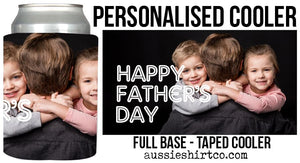 Fathers Day Stubbie Can Coolers - Personalised