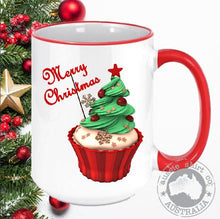Load image into Gallery viewer, Christmas Coffee Mugs Cupcake