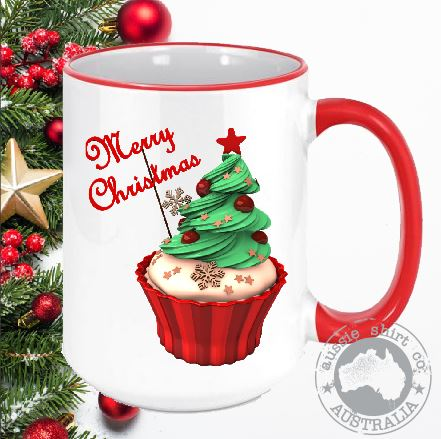 Christmas Coffee Mugs Cupcake