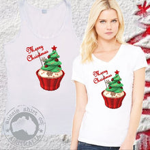 Load image into Gallery viewer, Womens Mens T-Shirt or Tank Christmas Cup Cake - ASC T-Shirts