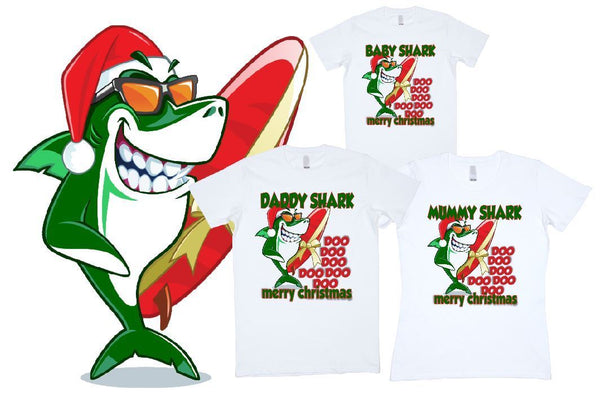 Christmas Shark Family Doo Doo Doo Doo Doo - aussie-shirt-co