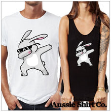 Load image into Gallery viewer, Fun Easter  T-Shirt Tank or Cut Sleeve - Dabbing Bunny - ASC T-shirts - aussie-shirt-co