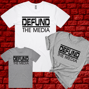 Defund The Media Q WWG1WGA QAnon TShirt Unisex T-Shirts and Tanks