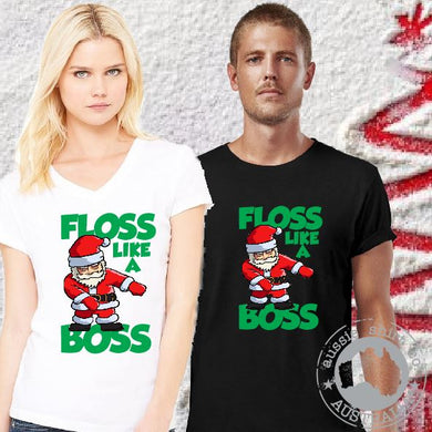 Christmas T-Shirt or Tank - Floss Like a Boss Santa - ASC T-Shirts