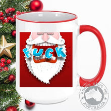 Load image into Gallery viewer, Personalised Christmas Coffee Mugs Merry F#%@ing Christmas