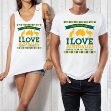 Load image into Gallery viewer, T-shirt Tank - I Love Australia - ASC T-Shirts - aussie-shirt-co