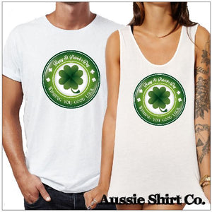 St Patricks Day T-Shirts - 4 Leaf Clover Stamp - aussie-shirt-co