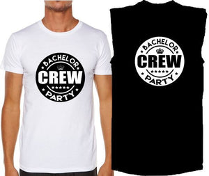 Bucks N Hens - Bachelor Crew - T-Shirt Tank or Cut Sleeve - ASC - aussie-shirt-co