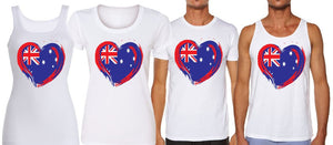 PAINTED HEART PRINT - aussie-shirt-co