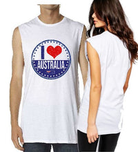 Load image into Gallery viewer, T-shirt Tank - I Heart Australia - ASC T-Shirts - aussie-shirt-co