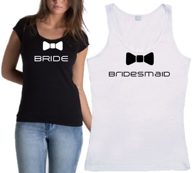 Bucks N Hens - Personalised Bride Bow - T-Shirt or Tank - ASC - aussie-shirt-co