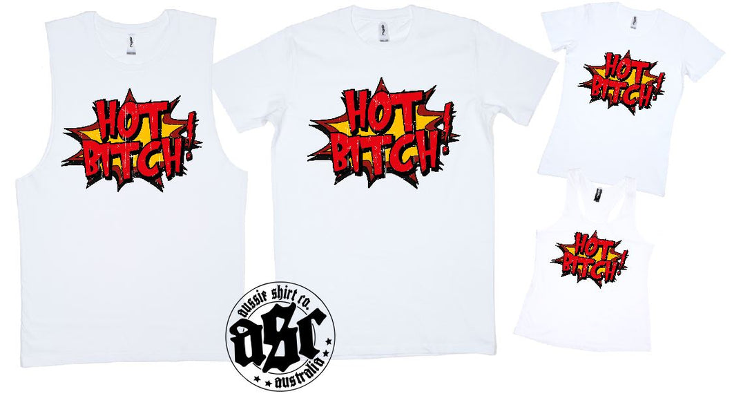 T-Shirt Muscle Racerback - Hot Bitch - ASC Shirts - aussie-shirt-co