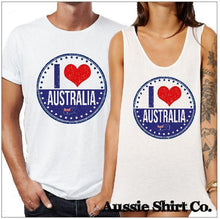 Load image into Gallery viewer, I Heart Australia Print X 5 T-Shirt Printing Australia