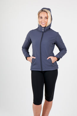 Ladies Soft Shell HOODED Jacket - TEMPEST Range CODE: J483LD