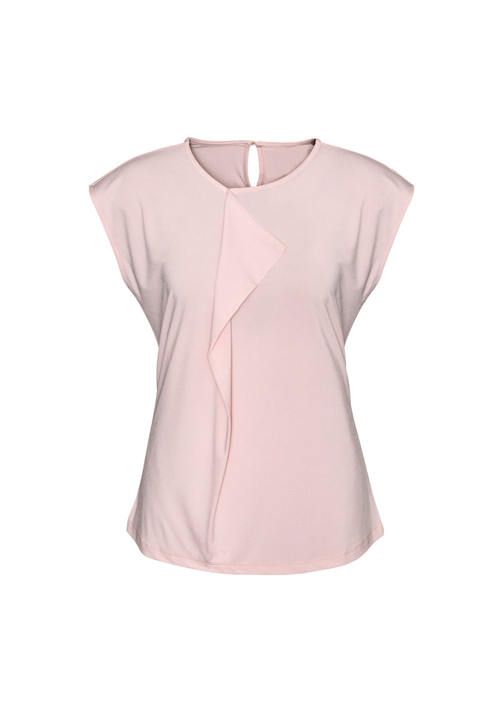 mia health aged care business retail uniforms school education shirts blush pink polyester elastane semi fitted female women