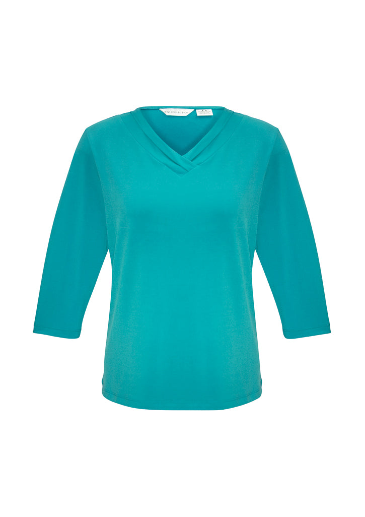 health aged care business school education lana shirts blends polyester elastane female women 3/4 sleeve