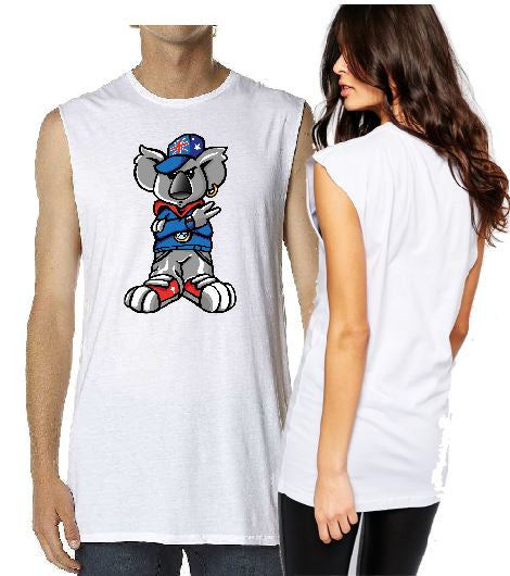T-Shirt Tank or Cut Sleeve - Aussie Koala Dude - ASC T-Shirts - aussie-shirt-co