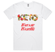 Load image into Gallery viewer, KETO Mens Womens AS Colour T-Shirt - Its Not A Diet Its a Lifestyle