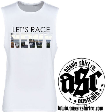 T-Shirt, Cut Sleeve or Tank Newcastle - Lets Race Newy - ASC T-Shirts - aussie-shirt-co