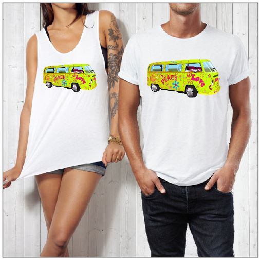 T-Shirt or Cut Sleeve - Lime Green Kombi - ASC T-Shirts - aussie-shirt-co