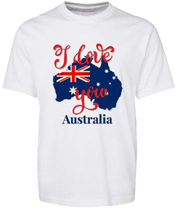 T-shirt Tank - I Love You Australia - ASC T-Shirts - aussie-shirt-co