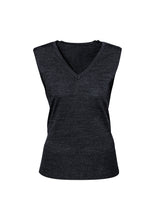 Load image into Gallery viewer, milano anything but boring health aged care wool blend vests knitwear business auto transport wool acrylic semi fitted female women sleeveless