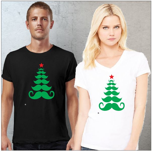 Moustache Christmas Tree ~ Christmas Shirts - aussie-shirt-co