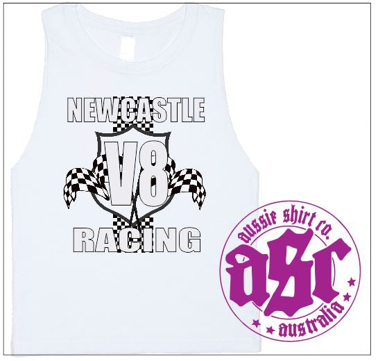 NEWCASTLE V8 RACING MUSCLE TEE - aussie-shirt-co