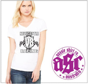 NEWCASTLE V8 RACING LADIES TEE - aussie-shirt-co