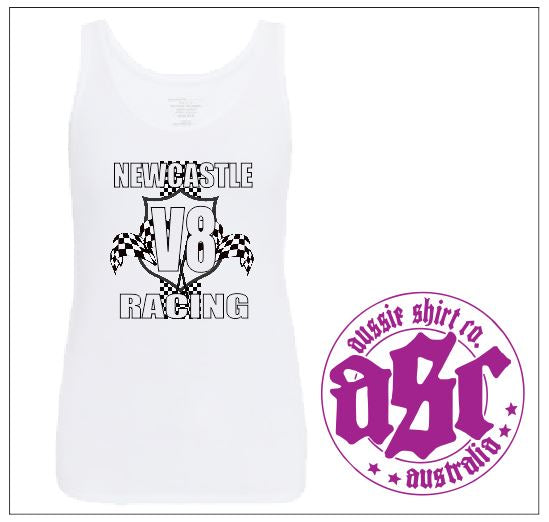 NEWCASTLE V8 RACING LADIES TANK - aussie-shirt-co
