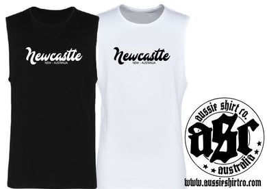 T-Shirt, Cut Sleeve or Tank - Newcastle ( insert your Town) - ASC T-Shirts - aussie-shirt-co