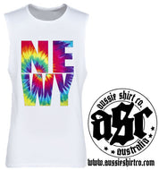 T-Shirt or Cut Sleeve - Tie Dye NEWY Print -ASC T-Shirts - aussie-shirt-co