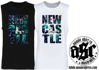 T-Shirt or Cut Sleeve - NEWCASTLE ( insert your Town) - ASC T-Shirts - aussie-shirt-co