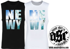 T-Shirt or Cut Sleeve - NEWY (or Insert Your Town) SURFER - ASC T-Shirts - aussie-shirt-co