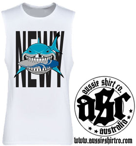 T-Shirt or Cut Sleeve - NEWY (or Insert Your Town) SHARK - ASC T-Shirts - aussie-shirt-co