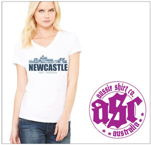 NEWCASTLE SKYLINE LADIES TEE - aussie-shirt-co