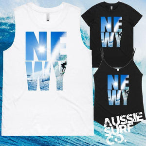 NEWY SURF Tee, Singlet or Muscle