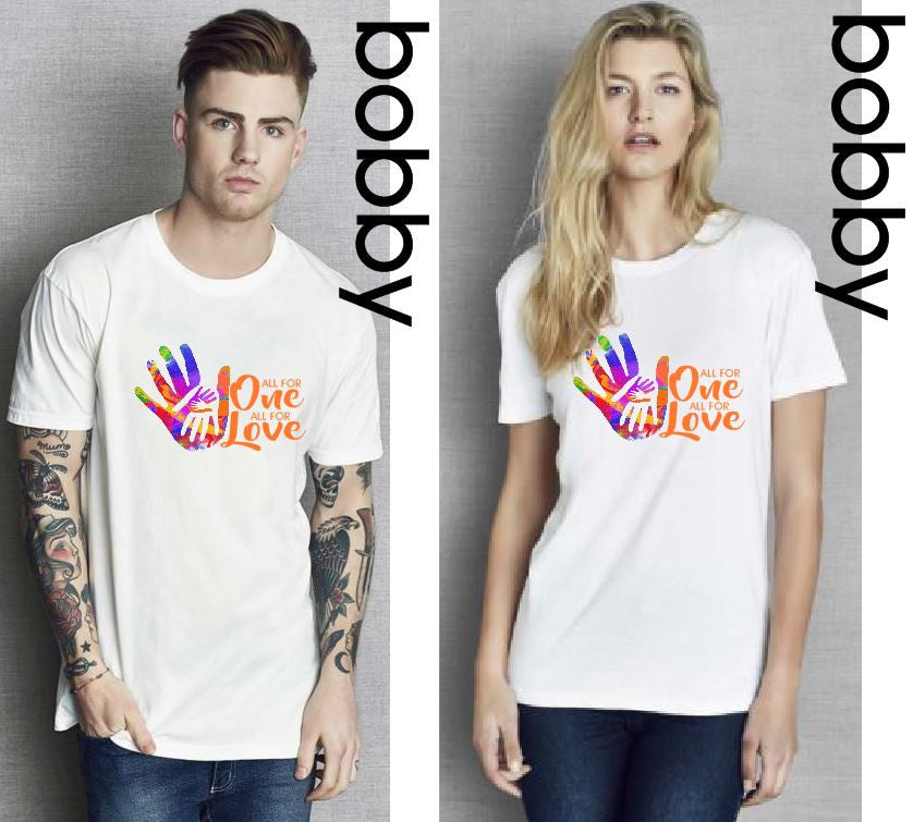 ONE LOVE ADULT UNISEX T-SHIRT - aussie-shirt-co