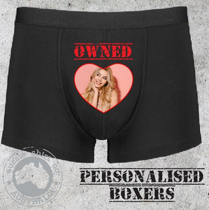 Personalised Mens boxer shorts underwear christmas valentines anniversary wedding gift