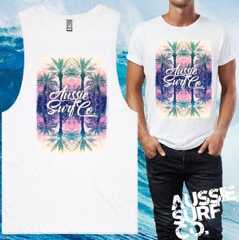 Pastel Palms Tee or Muscle