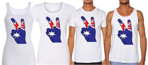PEACE HAND PRINT - aussie-shirt-co
