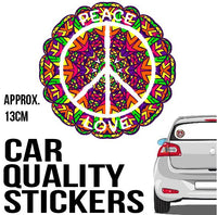 Peace Sign - Sticker - Car or Wall Decal - ASC Stickers - aussie-shirt-co