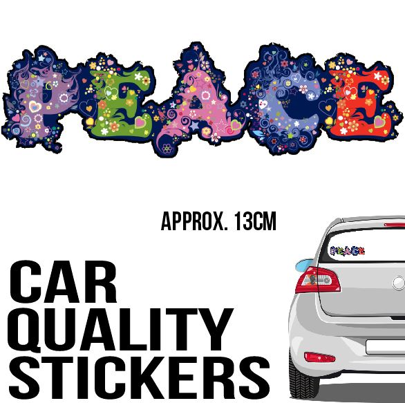 Peace Flower - Sticker - Car or Wall Decal - ASC Stickers - aussie-shirt-co