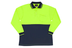 RAMO - Hi Vis Long Sleeve Polo - PS101L - LHC Logo Print - aussie-shirt-co