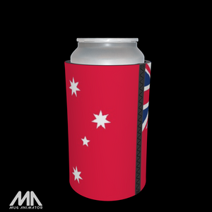 Stubbie / Can Cooler - Red Ensign Flag - The Peoples Flag