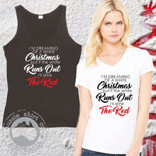 Load image into Gallery viewer, Fun Womens Christmas Shirt Drink the Red